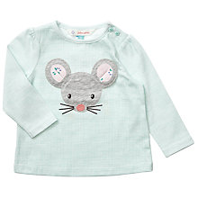 Buy John Lewis Baby 3D Mouse Top, Turquoise Online at johnlewis.com