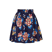 Buy John Lewis Girls' Floral Print Skirt, Navy Online at johnlewis.com