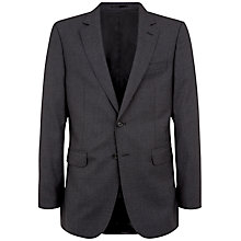 Buy Jaeger Plain Twill Classic Suit Jacket, Charcoal Online at johnlewis.com