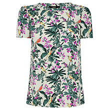 Buy Oasis Rainforest Print T-Shirt, Multi/Green Online at johnlewis.com