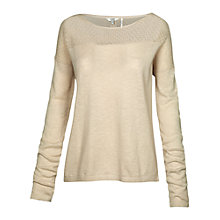 Buy Fat Face Billacombe Lace Jumper, Ivory Online at johnlewis.com