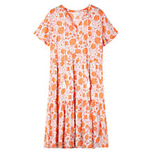 Buy East Kasha Print Tier Dress, Mandarin Online at johnlewis.com