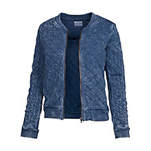 Buy Fat Face Amber Textured Bomber, Indigo Online at johnlewis.com