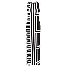 Buy Oasis Block Stripe Maxi Dress, Black / White Online at johnlewis.com