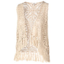 Buy Fat Face Crochet Waistcoat, Ivory Online at johnlewis.com
