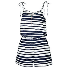 Buy Fat Face Stripe Playsuit, Navy Online at johnlewis.com