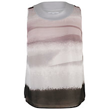 Buy Chesca Top Stitch Camisole Top, Pale Grey Online at johnlewis.com