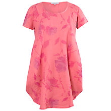 Buy Chesca Floral Print Tunic Linen Dress, Coral Online at johnlewis.com