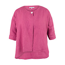 Buy Chesca Linen Jacket, Coral Online at johnlewis.com