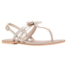 Buy Carvela Brady Leather Bow Toe Thong Sandals, Gold Online at johnlewis.com
