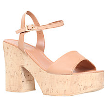 Buy Carvela Karol Platform Block Heeled Sandals, Tan Online at johnlewis.com