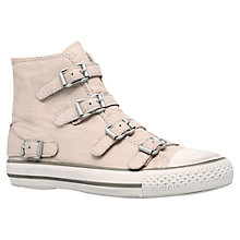 Buy Kurt Geiger Lizzy Leather High Top Trainers, Nude Online at johnlewis.com