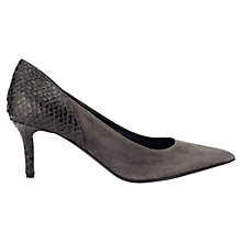 Buy Jigsaw Tilly Suede Pointed Court Shoes, Charcoal Online at johnlewis.com