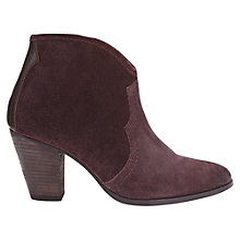 Buy Jigsaw Cara Stacked Heel Ankle Boots Online at johnlewis.com