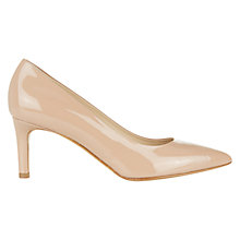 Buy Hobbs Pippa Patent Leather Pointed Court Shoes, Deep Nude Online at johnlewis.com
