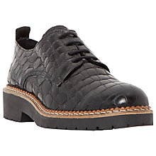 Buy Dune Black Farra Leather Lace Up Brogues Online at johnlewis.com
