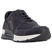 Buy Dune Black Enna Lace Up Trainers Online at johnlewis.com