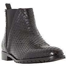 Buy Dune Black Palla Leather Chelsea Boots, Black Snakeskin Online at johnlewis.com