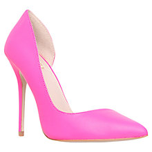 Buy Carvela Alissa Pointed Cut Out Court Shoes, Pink Online at johnlewis.com