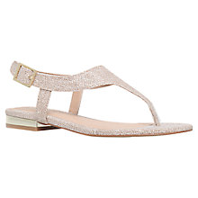 Buy Carvela Brooke Toe Thong Sandals, Gold Online at johnlewis.com