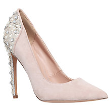 Buy KG by Kurt Geiger Hijack Back Embellished Courts, Nude Online at johnlewis.com