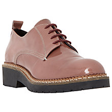 Buy Dune Black Farra Leather Lace Up Brogues, Pink Patent Online at johnlewis.com