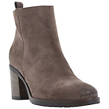 Buy Dune Black Phelix Suede Block Heel Ankle Boots, Taupe Online at johnlewis.com