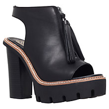 Buy KG by Kurt Geiger Solace Leather Tassel Shoe Boots, Black Online at johnlewis.com