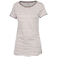Buy Fat Face Crew Striped T-Shirt, Taupe Online at johnlewis.com