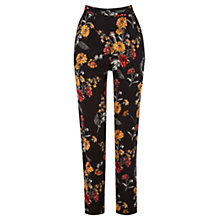 Buy Warehouse Summer Floral Trousers, Multi Online at johnlewis.com