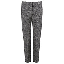 Buy Jigsaw Tweed Jacquard Cigarette Trousers, Bark Online at johnlewis.com