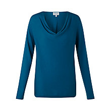 Buy Jigsaw Luxury Blend Cowl Neck Sweater, Kingfisher Blue Online at johnlewis.com