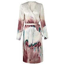 Buy Jigsaw Horizon Print Silk Wrap Dress, Multi Online at johnlewis.com