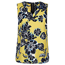 Buy Warehouse Print Lace V-Neck Top, Multi Online at johnlewis.com