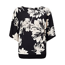 Buy Phase Eight Kalin Kimono Top, Black/Cream Online at johnlewis.com