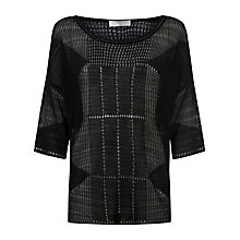 Buy Windsmoor Open Stitch Sweater, Black Online at johnlewis.com