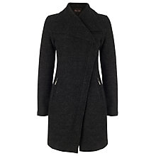 Buy Phase Eight Zen Zip Asymmetric Coat, Charcoal Online at johnlewis.com