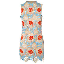 Buy True Decadence High Neck Lace Dress, Blue/Orange Online at johnlewis.com