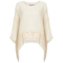 Buy Phase Eight Pru Silk Sequin Blouse, Magnolia Online at johnlewis.com