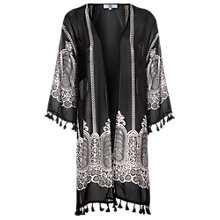 Buy True Decadence Sheer Tribal Kimono Jacket, Black Online at johnlewis.com