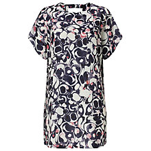 Buy Phase Eight Marble Print Tunic Dress, Blue Online at johnlewis.com
