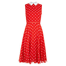 Buy Hobbs Hattie Dress, Red Ivory Online at johnlewis.com