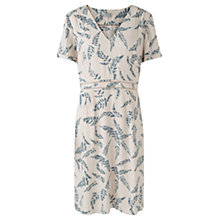 Buy Jigsaw Fern Print Tea Dress, Ivory Online at johnlewis.com