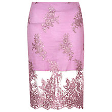 Buy True Decadence Organza Pencil Skirt, Pink Online at johnlewis.com