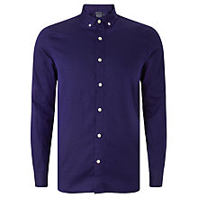 Buy JOHN LEWIS & Co. Pin Dot Button Collar Shirt, Cobalt Blue Online at johnlewis.com
