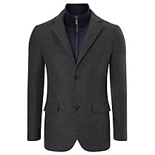 Buy John Lewis 2-in-1 Birdseye Blazer, Blue Online at johnlewis.com