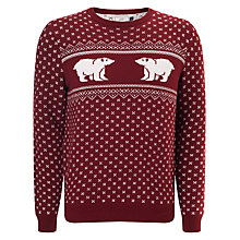 Buy John Lewis Charity Polar Bear Cotton Christmas Jumper Online at johnlewis.com