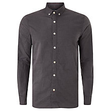 Buy JOHN LEWIS & Co. Organic Double Dobby Cotton Shirt, Grey Online at johnlewis.com