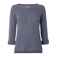 Buy White Stuff Linen-Mix Little Tulip Jumper, Bed Linen Blue Online at johnlewis.com