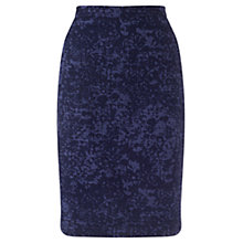 Buy Jigsaw Ditsy Pencil Skirt, Blue Online at johnlewis.com